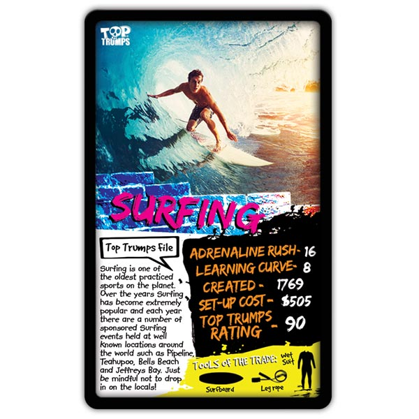 EXTREME SPORTS TOP TRUMPS