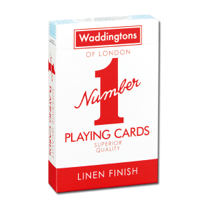 Red Waddingtons playing cards