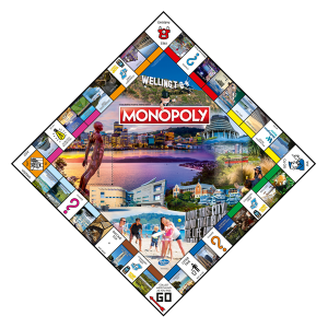 Wellington Monopoly gameboard