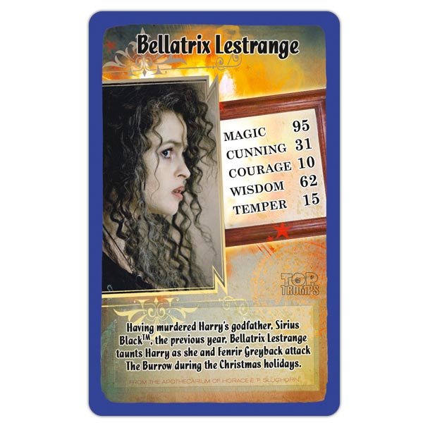 Harry Potter and the Half Blood Prince Top Trumps Card Game