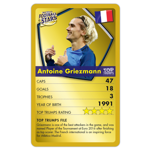 World Football Stars Top Trumps