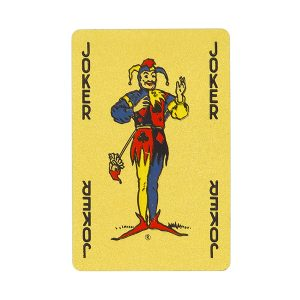 Gold Waddingtons playing cards