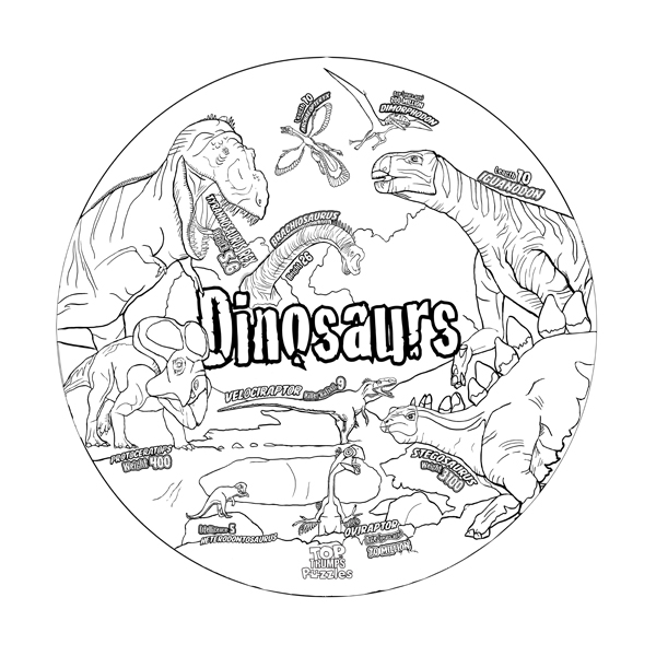 Dinosaurs Top Trumps Puzzle