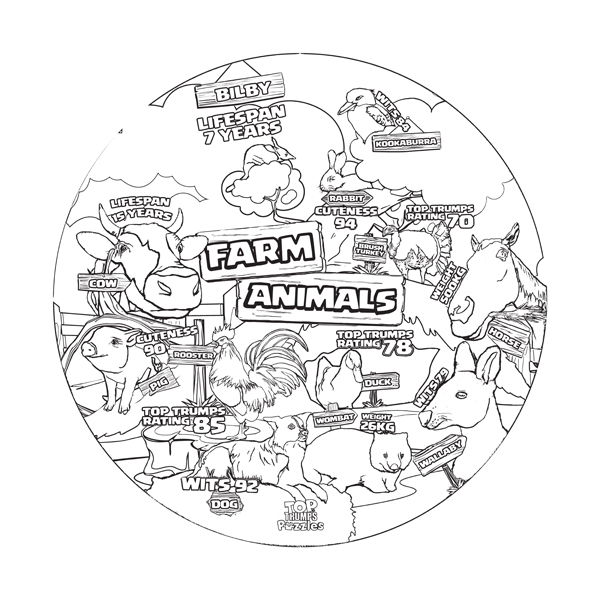 Farm Animals Top Trumps puzzle
