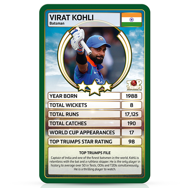 World Cricket Stars Top Trumps