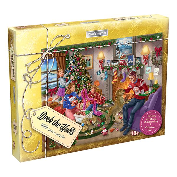 Waddingtons Deck the Halls 1000-Piece Christmas Puzzle