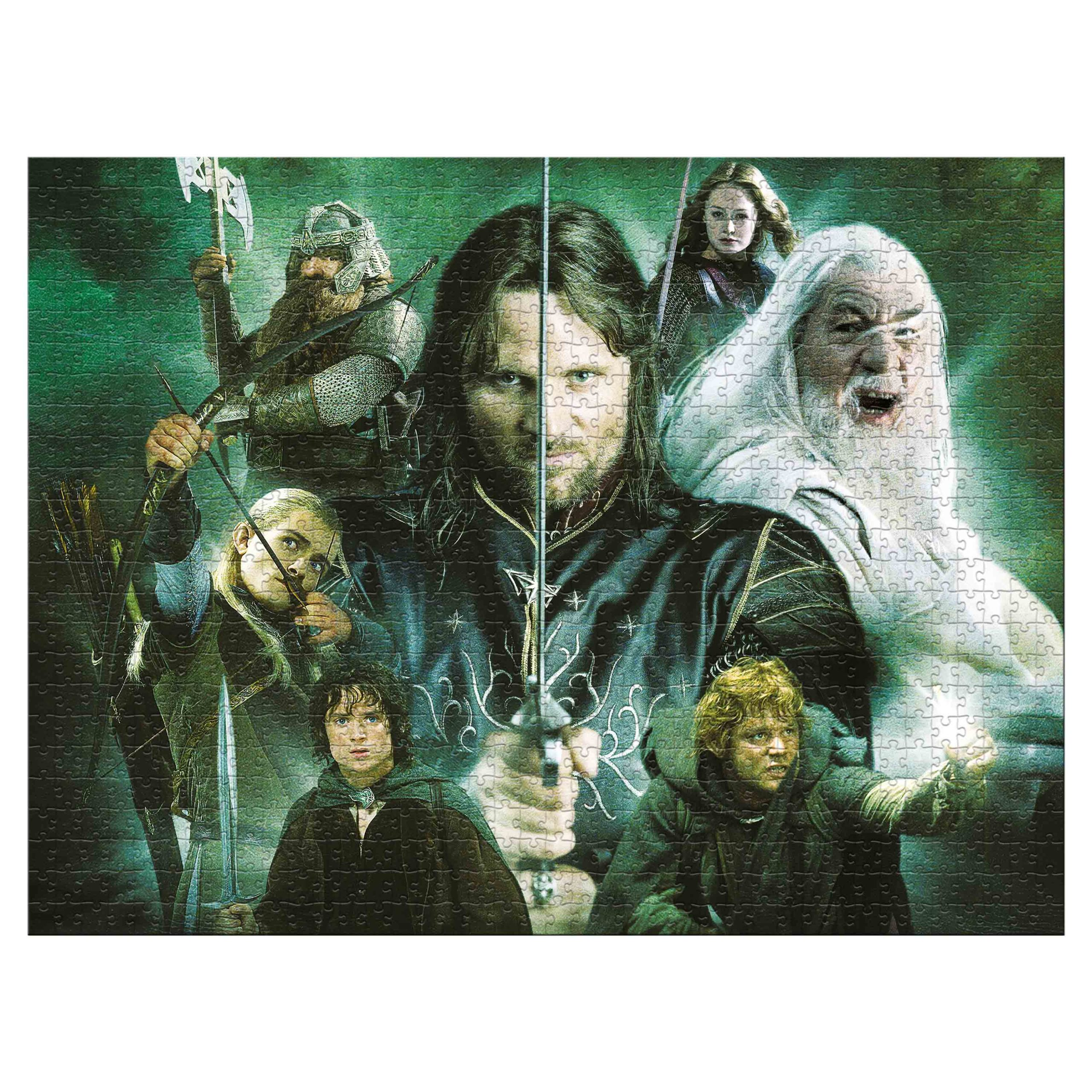 The Lord of the Rings Heroes of Middle Earth 1,000-Piece Puzzle