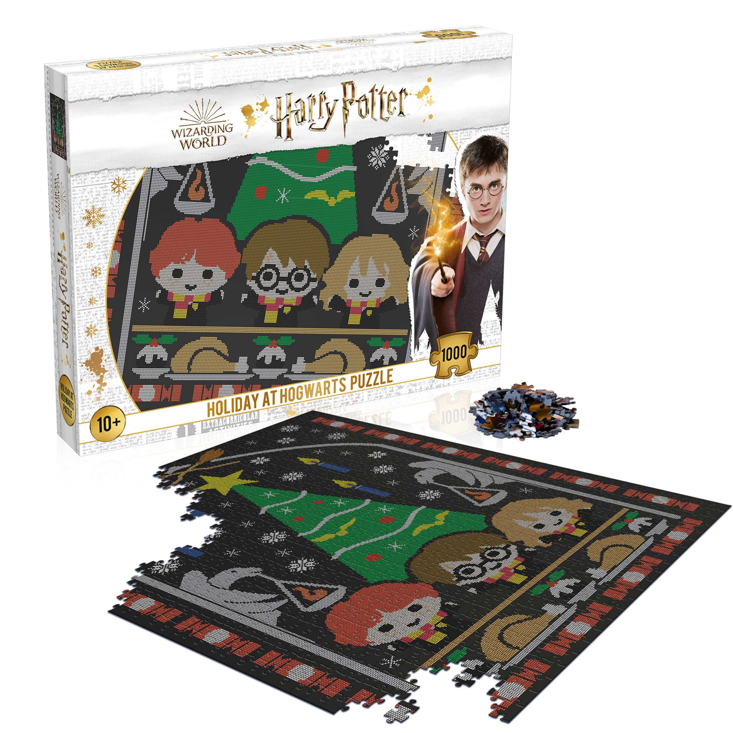 Harry Potter Holiday at Hogwarts 1000-Piece Puzzle